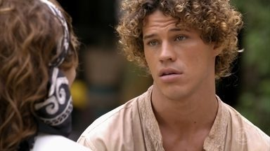 Candinho pergunta a Guiomar se ela sabe quem é seu pai - A mãe de Alberto visita o quiosque de Bibiana e fica surpresa com os questionamentos de Candinho
