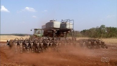 Produtor aguarda chuva para começar plantio da soja em Goiás - A previsão é que o período chuvoso comece nos próximos dias.