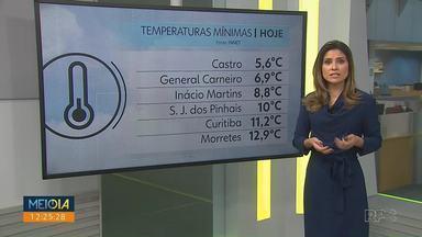 Cidades do Paraná registram temperaturas abaixo de 10º na manhã de sábado - Amanhã há risco de temporal para as regiões Norte e Oeste do Estado.