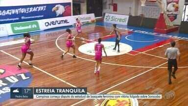 Basquete Campinas atropela o Sorocaba em casa na estreia pelo Campeonato Paulista Feminino - Atuais campeãs fizeram 88 a 44 no Ginásio Paineiras, em Campinas.