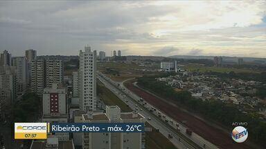Veja a previsão do tempo para esta terça-feira em Ribeirão Preto, SP - Termômetros marcam temperatura máxima de 26ºC.