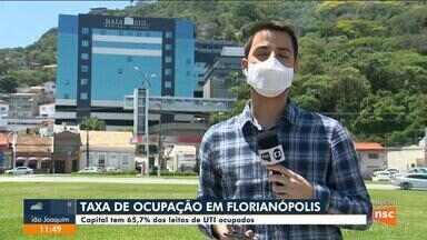 Florianópolis tem 65,7% dos leitos de UTI ocupados - Florianópolis tem 65,7% dos leitos de UTI ocupados