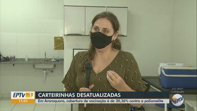 Cobertura de vacinação contra a polio é de 30,36% em Araraquara - Enfermeira da Vigilância Epidemiológica explica importância da imunização.