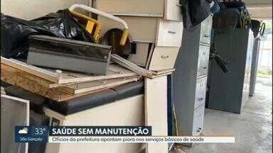 Ofícios da prefeitura apontam piora nos serviços básicos de saúde - O RJ1 teve acesso a um relatório entregue ao Ministério Público que revela sérios problemas de manutenção em postos de saúde e clínica da família do Rio.