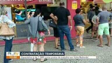 Volta Redonda tem expectativa de 1.500 novos postos de trabalho - Contratações temporárias são comuns aos finais de ano, principalmente no comércio.