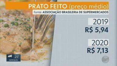 Pesquisa aponta alta de 20% no valor do 'prato feito' em Ribeirão Preto, SP - Elevação está associada à elevação no preço dos alimentos.