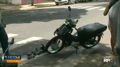 Acidente entre duas motos deixa um ferido em Paranavaí - O outro motociclista não se feriu.