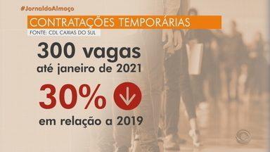 Comércio reduz ofertas de vagas temporárias para setembro, em Caxias do Sul - Expectativa do setor é abrir 300 oportunidades até o fim do ano, número 30% menor em relação ao ano passado.