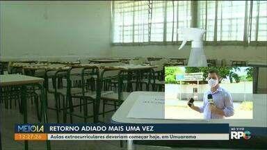 Volta às aulas em Umuarama depende de compromisso assinado pelos pais - Atividades extracurriculares deveriam ter sido retomadas nesta semana.