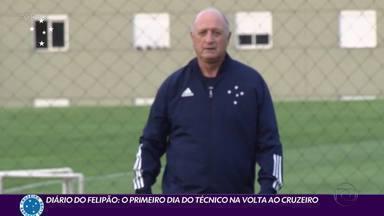 Diário do Felipão: o primeiro dia do técnico na volta ao Cruzeiro - Diário do Felipão: o primeiro dia do técnico na volta ao Cruzeiro