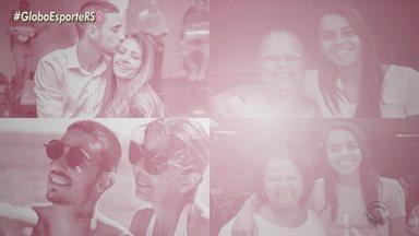 Conheça as vivências de jogadores de Grêmio e Inter com casos próximos de câncer de mama - Thiago Galhardo, atacante do Inter, e Kika, meio-campista do Grêmio, contam seus envolvimentos com a doença.