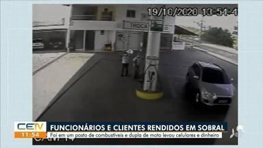 Dupla rende clientes e funcionários em posto de combustível e leva celulares em Sobral - Saiba mais no g1.com.br/ce