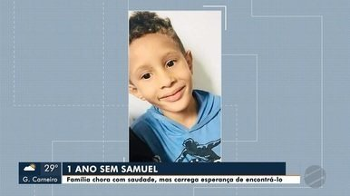 1 ano sem Samuel: família chora com saudade, mas carrega esperança de encontrá-lo com vida - 1 ano sem Samuel: família chora com saudade, mas carrega esperança de encontrá-lo com vida; veja reportagem