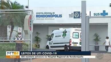 Secretaria Estadual de Saúde manterá estrutura dos leitos de UTI COVID no HR - Secretaria Estadual de Saúde manterá estrutura dos leitos de UTI COVID no Hospital Regional de Rondonópolis; veja detalhes