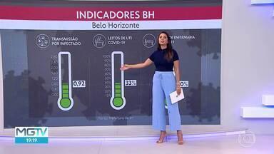 Indicadores do coronavírus estão no verde, em BH - Prefeitura da capital monitora três índices: taxa de transmissão por infectado, taxa de ocupação de leitos de UTI e de leitos de enfermaria exclusivos para Covid-19.