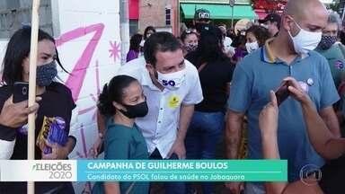 Guilherme Boulos fez campanha na zona sul - O candidato do PSOL visitou área reservada para construção de UBS na região do Jabaquara.
