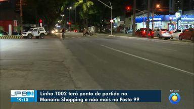 Linhas de ônibus de João Pessoa mudam itinerários a partir de quarta-feira - Linha 9901 passa a atender o Novo Milênio, alterando percurso da I008. Já a T002 tem seu ponto de partida alterado para o Manaíra Shopping.