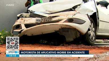 Motorista de aplicativo morre em acidente de trânsito - Condutora voltava para casa quando bateu carro contra ônibus