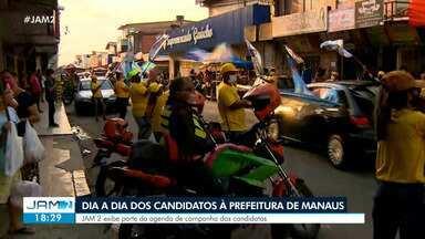 Confira o dia a dia dos candidatos à Prefeitura de Manaus - Na semana, JAM 2 exibe parte da agenda de campanha dos candidatos