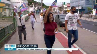 Neuzinha diz que pretende implantar botões de emergência em postos de ônibus de Vitória - Veja a reportagem.