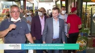 Celso Russomano visitou a Ceagesp - O candidato do Republicanos ouviu as demandas dos permissionários, que não querem que o entreposto mude de lugar.