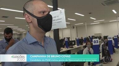 Bruno Covas fez campanha em São Mateus, Zona Leste - O candidado do PSDB à reeleição visitou uma unidade do Descomplica, da prefeitura.