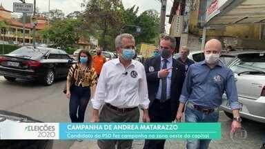 Andrea Matarazzo fez campanha no Parque Continental, Zona Oeste - O candidato do PSD falou sobre suas propostas para acabar com as enchentes
