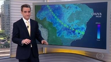 Temporais vão atingir MG, ES e sul da BA - No domingo, cidades do Espírito Santo podem acumular 100mm de chuva