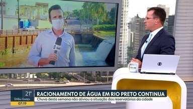 Racionamento de água continua em São José do Rio Preto - Chuvas desta semana não aliviaram a situação dos reservatórios da cidade.