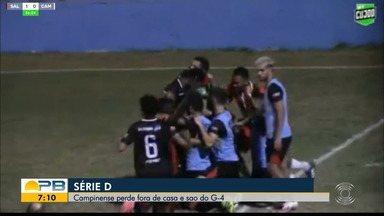 Salgueiro 2 x 0 Campinense, pela rodada #9 da Série D - Time paraibano vence a equipe pernambucana no Cornélio de Barros