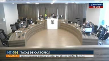 Comissão Especial analisa projeto e emendas que alteram tabelas de custas de cartórios - Primeira reunião foi hoje (26) cedo. Presidente da OAB?Paraná foi ouvidos pelos deputados estaduais.