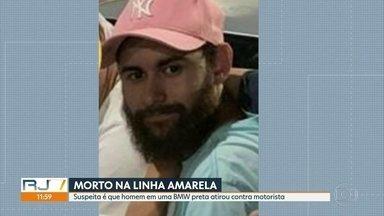 Homem foi assassinado na Linha Amarela - Marco André de Paula, de 24 anos, voltava de um encontro de carros com casal de amigos. Testemunhas contam que uma BMW preta emparelhou e atirou.