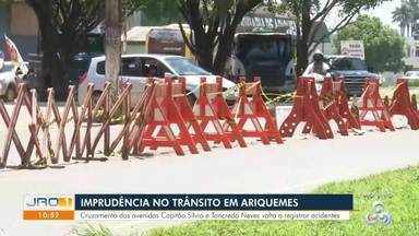 Imprudência no transito em Ariquemes - Cruzamento das Avenidas Capitão Silvio e Tancredo Neves volta a registrar acidentes.
