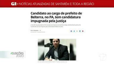 Candidatura de registro de Belterra é notícia em destaque no G1 Santarém - Acesse a reportagem completa no g1.com.br/tvtapajos