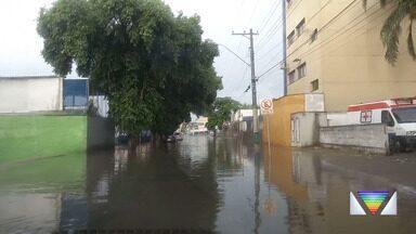 Temporal derrubou árvores em São José dos Campos - Chegada da chuva escureceu o céu na cidade neste domingo.
