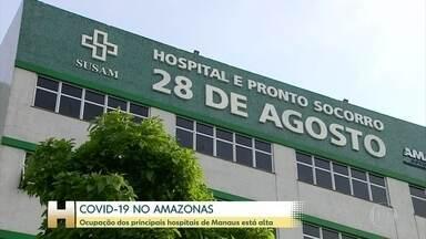 Ocupação de leitos por pacientes com Covid volta a preocupar no Amazonas - Estado registrou o 5º dia seguido de alta na média móvel de mortes.