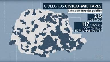 117 cidades do Paraná podem ter colégios cívico-militares em 2021 - Consultas públicas com a comunidade escolar começam nesta terça-feira (27).