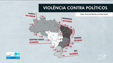 MA fica atrás apenas do RJ em número casos de violência contra políticos - Segundo o levantamento de organizações não-governamentais, a maioria dos atentados e assassinatos ocorrem no interior do estado.