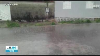 Chuva de granizo é registrada em Tucuruí, no Pará - Chuva de granizo é registrada em Tucuruí, no Pará