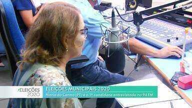 Maria do Carmo (PT) é a primeira entrevistada na rádio 94 FM, em Santarém - Rodada de entrevistas iniciou ensta segunda-feira (26).