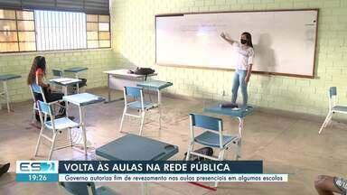 Governo do ES autoriza fim de revezamento nas aulas presenciais em algumas escolas - Confira na reportagem.