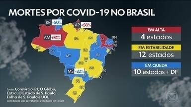 Brasil passa de 158 mil mortes por Covid-19, segundo consórcio dos veículos de imprensa - País tem 158.101 óbitos registrados e 5.445.475 diagnósticos de Covid-19, segundo levantamento junto às secretarias estaduais de Saúde.