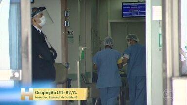 Aumento na ocupação de leitos de UTI do maior hospital de Sergipe preocupa - Taxa de contaminação no estado cresceu segundo a Universidade Federal de Sergipe.