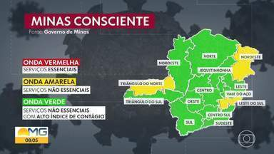 80% do estado está na onda verde do Programa Minas Consciente - Apenas três regiões seguem na onda amarela.