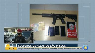 Grupo que roubou caminhão do lixo para praticar outros crimes é presos, em João Pessoa - Suspeitos usavam caminhão para arrombar cofres de postos de combustíveis na capital