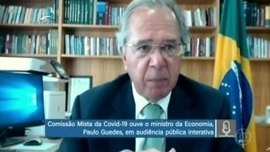 Guedes diz que, sem imposto, não há como manter desoneração da folha - O ministro da Economia, Paulo Guedes, voltou a defender imposto, em audiência virtual de comissão do Congresso, mas depois disse que não será criado.