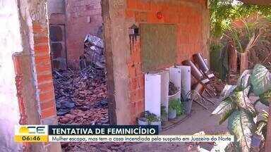 Mulher tem a casa incendiada depois de tentativa de feminicídio - Saiba mais em g1.com.br/ce