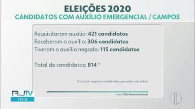 Mais da metade dos candidatos de Campos, RJ, solicitaram o auxílio emergencial - Entre os aspirantes a representantes do povo estão empresários, economistas e advogados com renda superior às regras.