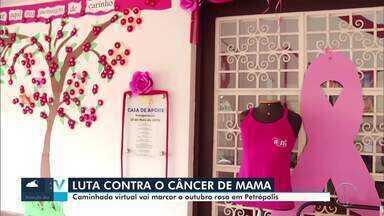 Associação encerra campanha do Outubro Rosa com evento virtual em Petrópolis, no RJ - Instituição promove uma caminhada todos os anos, mas, por conta da pandemia, será realizado um encontro online para marcar a data neste sábado (31).