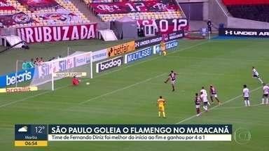 São Paulo goleia o Flamengo no Maracanã - Tricolor venceu o time carioca por 4 a 1. Tiago Volpi pegou dois pênaltis.